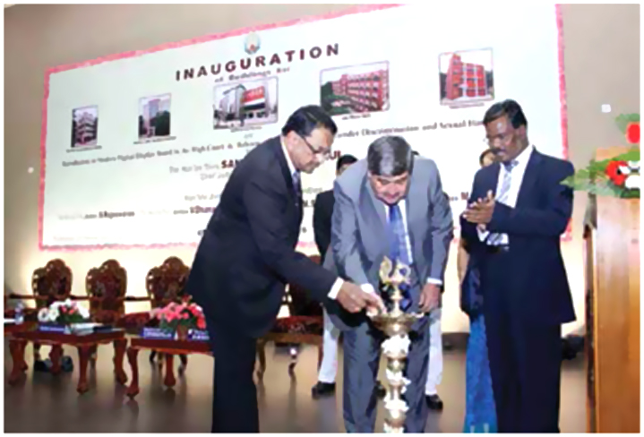 Chief Justice Inaugurating the Illegal Buildings (1)